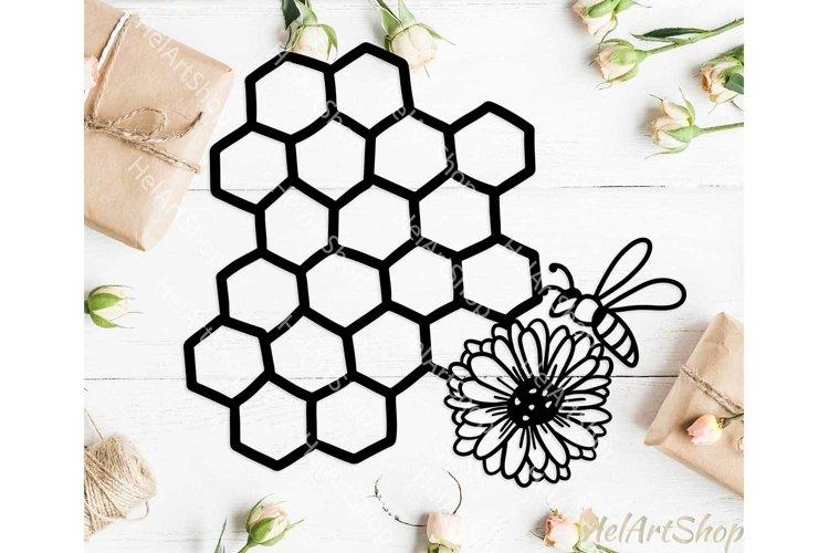 Honeycomb svg, bee svg, floral bee svg, honey bee svg