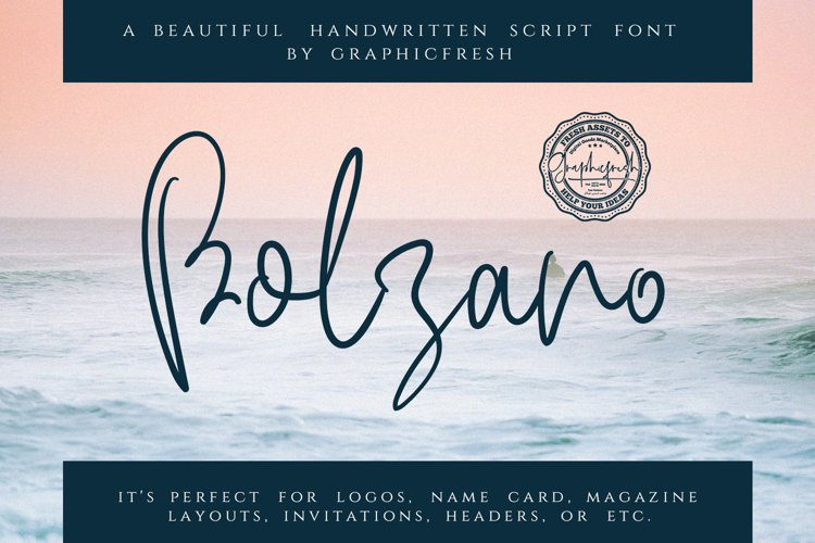 Bolzano - A Beautiful Script Font example image 1