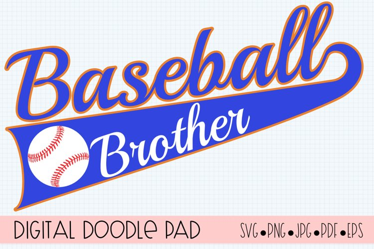 Baseball Brother SVG | Silhouette and Cricut Cut File example image 1