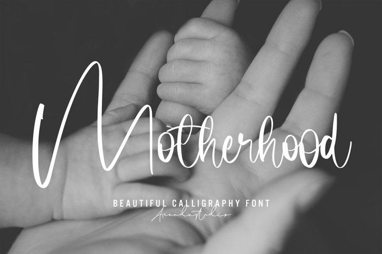 Motherhood - Calligraphy Font example image 1