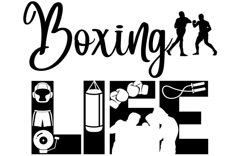 Boxing Life SVG Cutting File for the Cricut example image 1