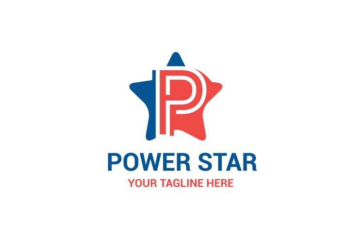 P letter Star logo example image 1