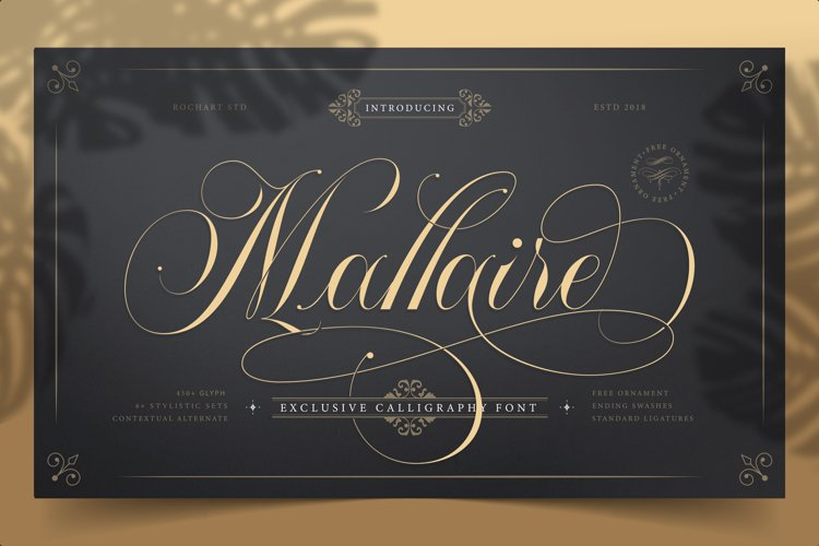 Mallaire Exclusive Calligraphy Font example image 1