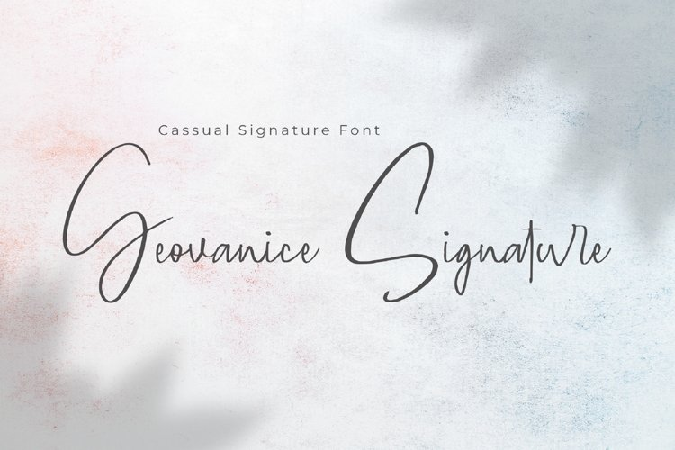 Geovanice - Casual Signature Font example image 1
