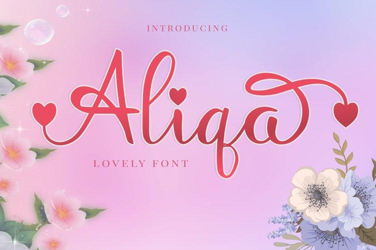 Aliqa - Lovely Font example image 1