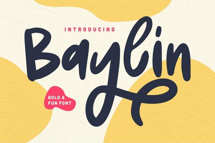 Web Font Baylin - Bold & Fun Font example image 1