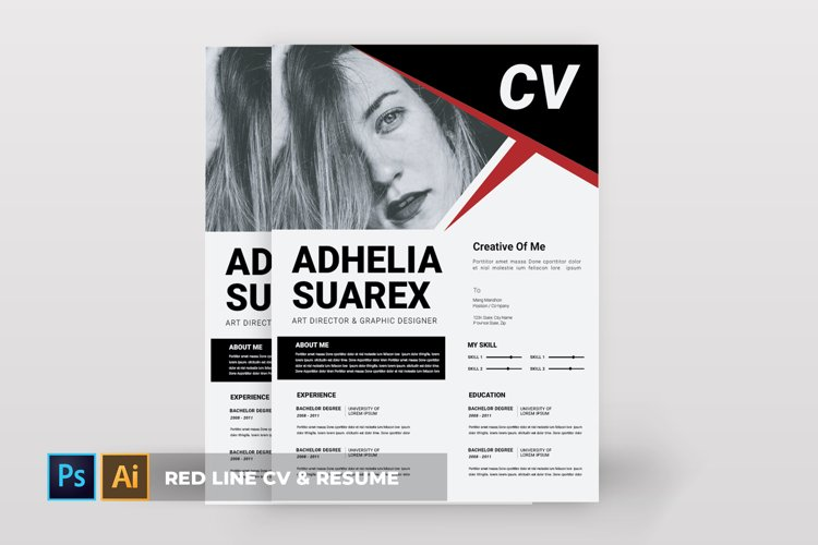 Red Line | CV & Resume example image 1