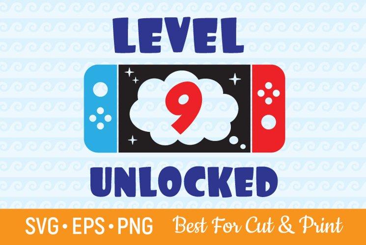 Level Unlocked SVG Birthday svg Game svg Level up Party SVG