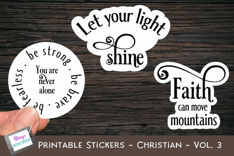 Printable Stickers - Christian Bible Verses - Vol. 3 - PNG example image 1