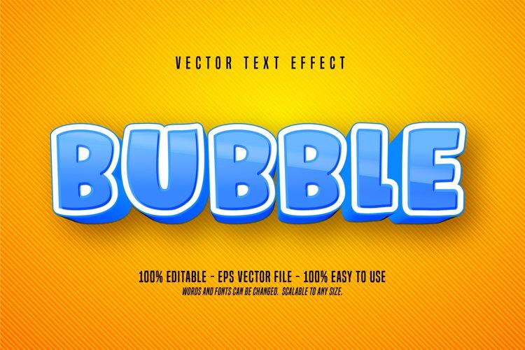 Bubble editable cartoon text effect example image 1