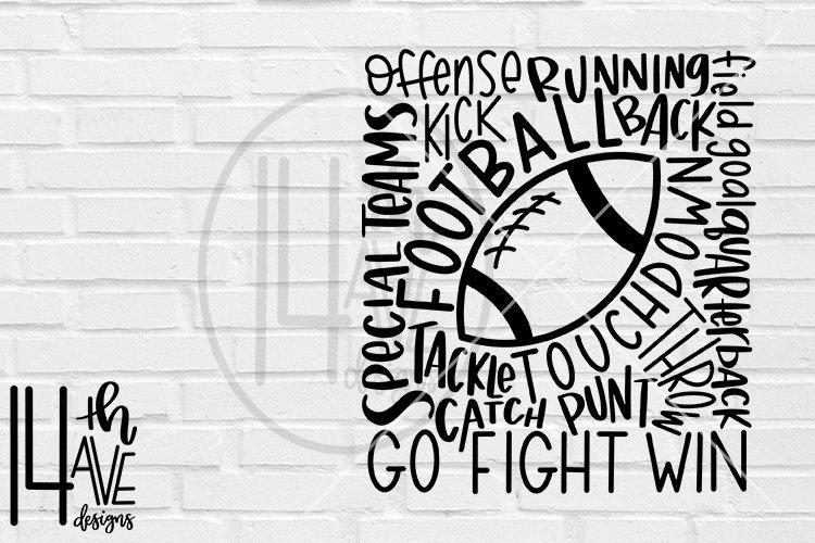 Football SVG, Football Typography, Football Word Art example image 1