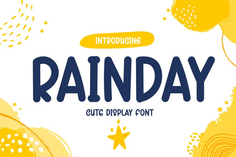 Rainday - Cute Display Font example image 1