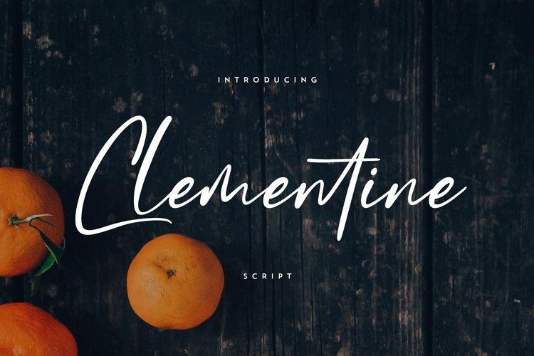 Clementine Script example image 1