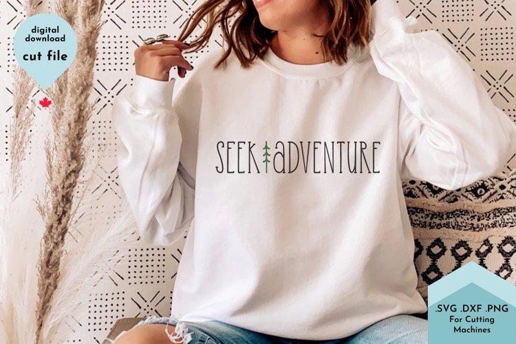Seek Adventure Pine Tree - Summer SVG Camping