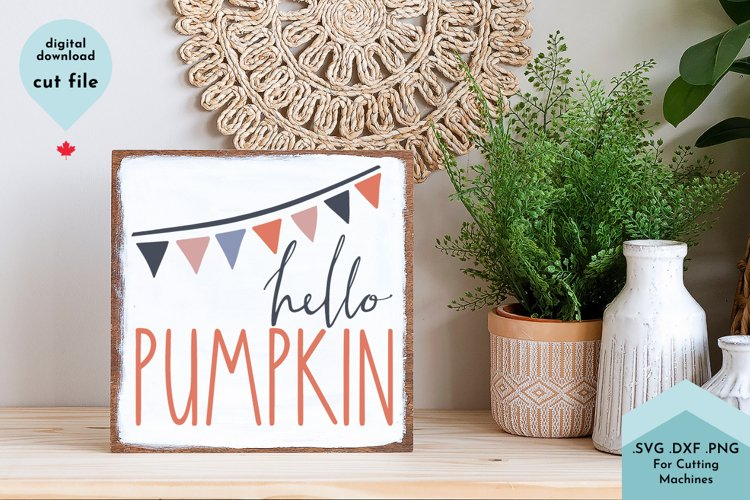 Hello Pumpkin - Fall SVG Cut File, Autumn