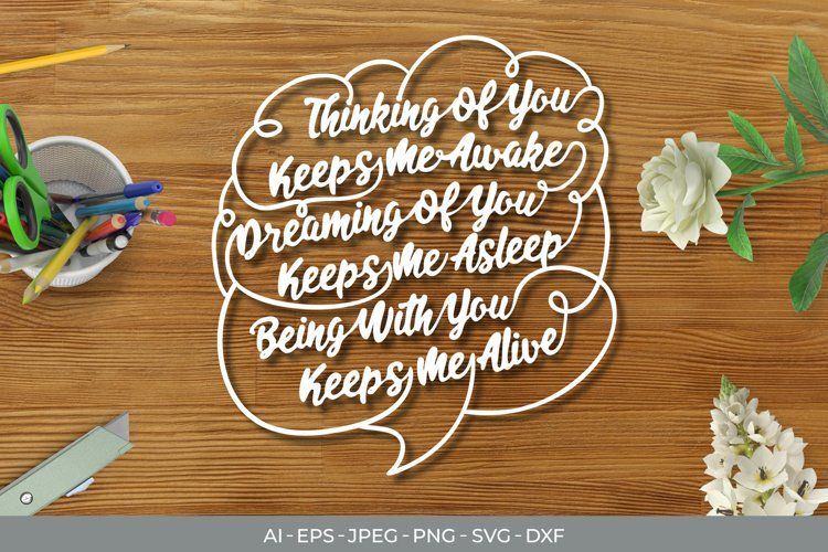 Thinking of You SVG example image 1