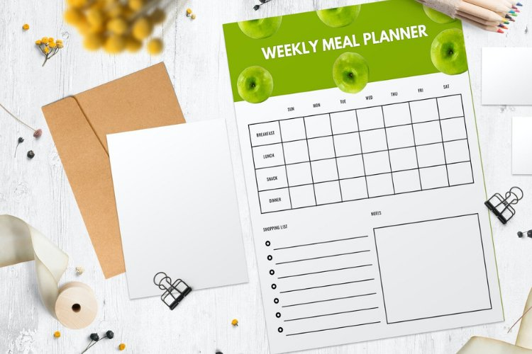 4 Fruit Themed Weekly Meal Planner Canva Templates example 2