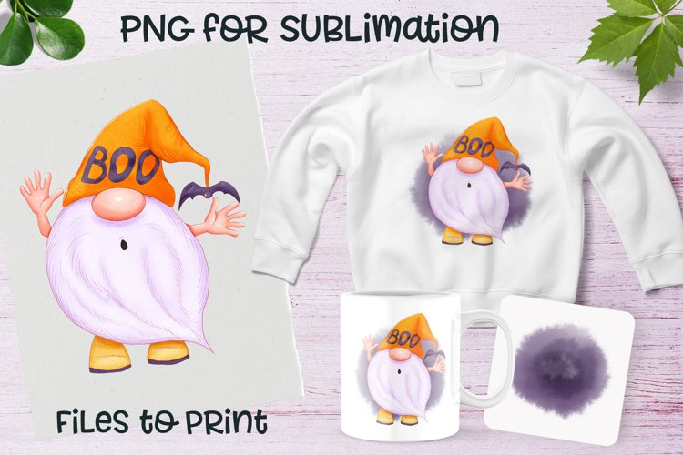 Halloween gnome sublimation. Design for printing