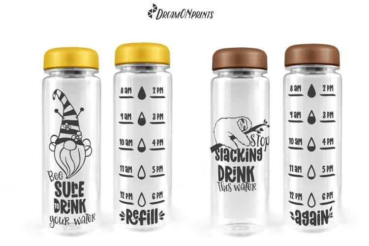 Water Bottle Tracker SVG Bundle   Drink Your Water - Free Design of The Week Design7