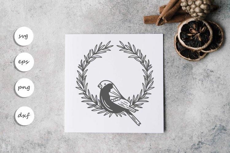 Bird wreath SVG example image 1