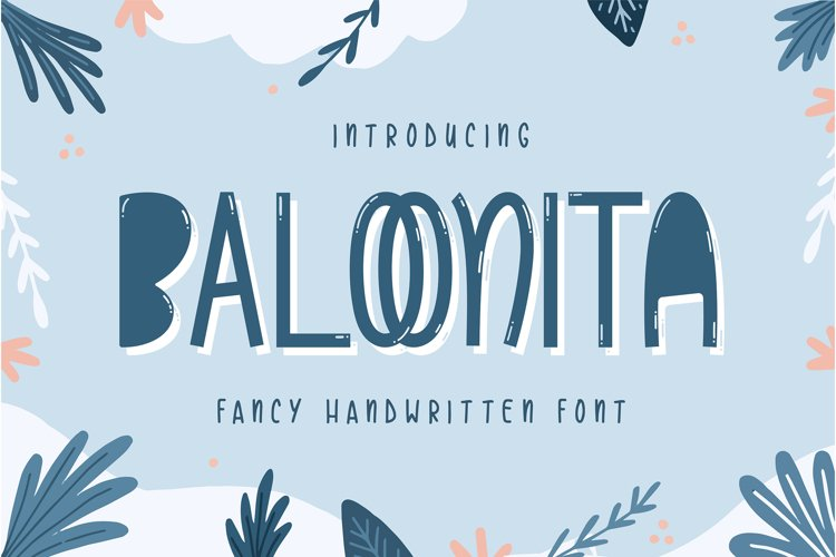 Baloonita - Fancy Handwritien Font example image 1
