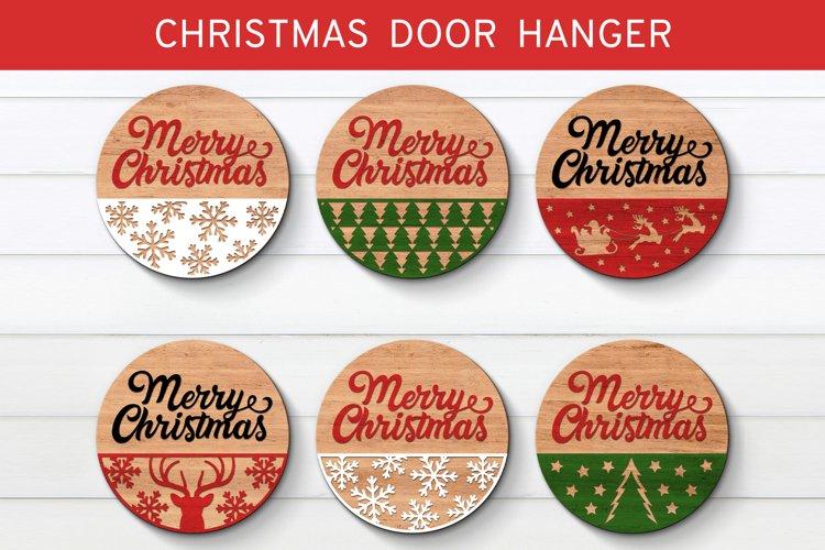 Christmas Door Hanger Bundle SVG