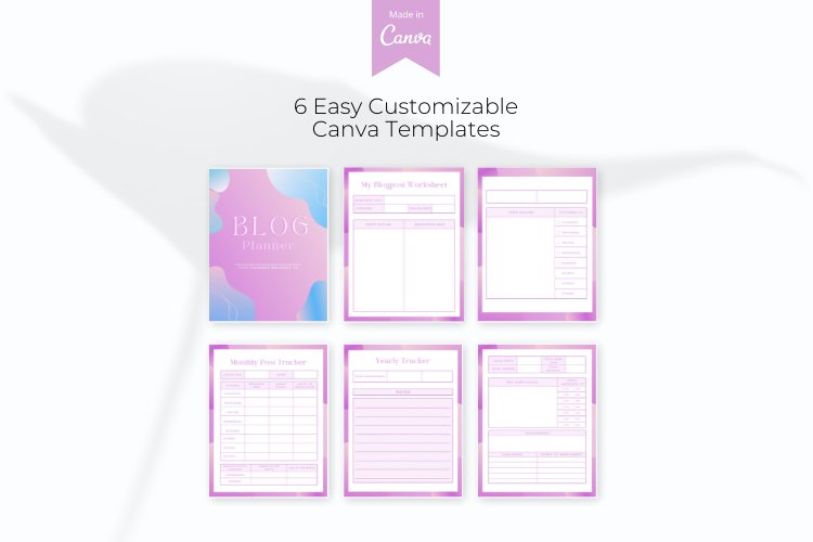Blog Planner Canva Template example 1