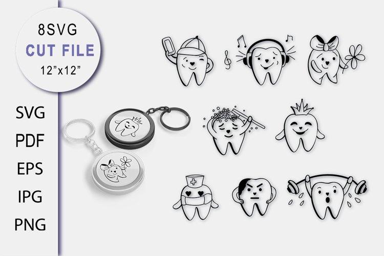 Bundle Teeth SVG. Tooth Cut file SVG. Baby Sublimation SVG.