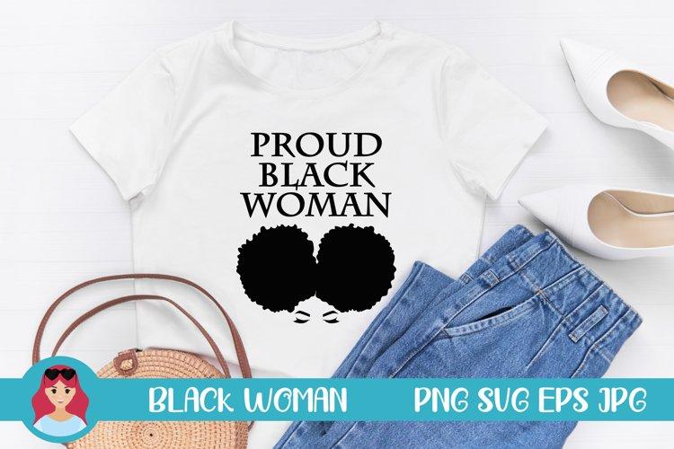 Proud Black Woman Illustration SVG Women Power