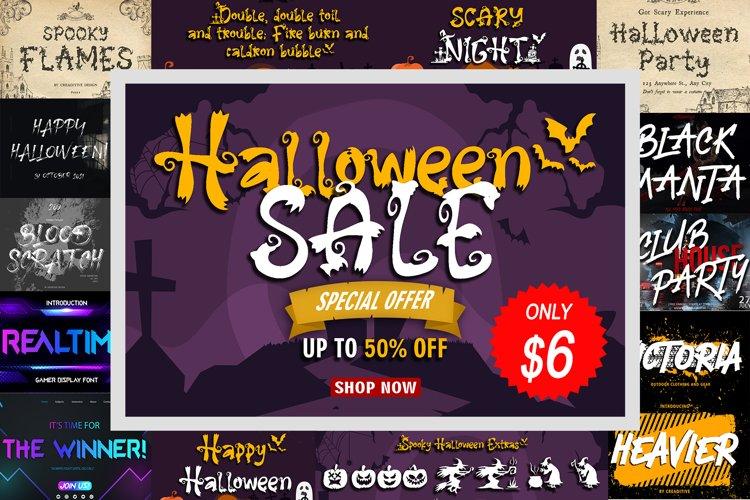 Halloween Sale Font Bundle example image 1