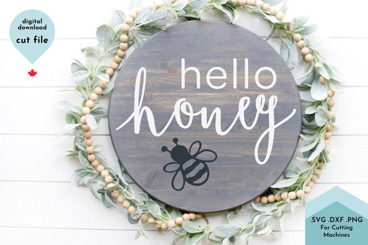 Hello Honey Welcome SVG