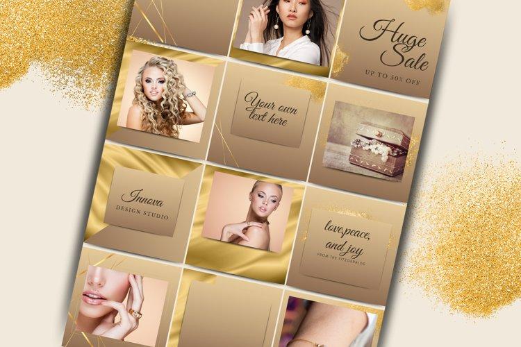 Elegant Beige and gold Instagram Templates for Canva