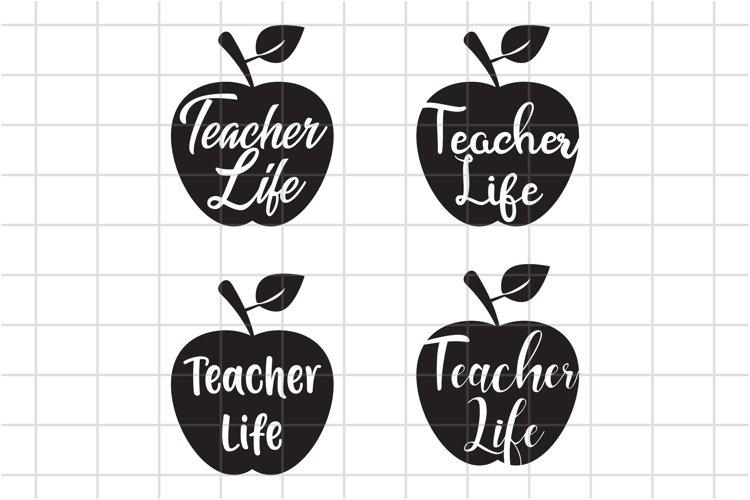 Teacher life Svg, Teacher Cut file, Teach, Back to school