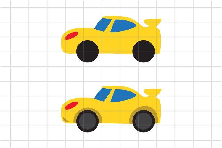 Race Car SVG, Cute Car cut file, Kids Car SVG, PNG, vector