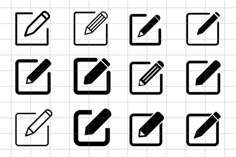 Edit icon symbol vector. Edit text or document icon.