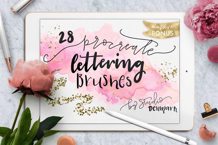 Procreate Lettering Brushes Bonus example image 1
