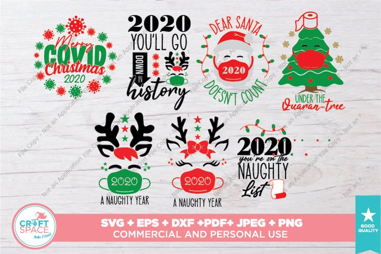 Christmas 2020, Christmas Quarantine SVG, PDF, EPS AND MORE example image 1