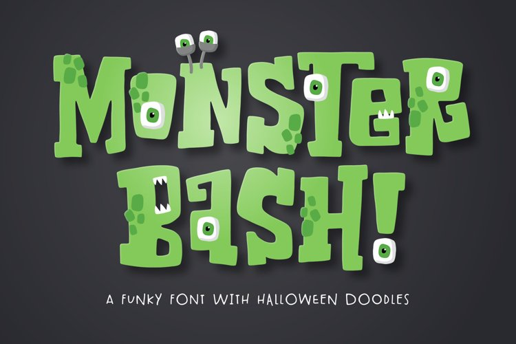Monster Bash Font example image 1