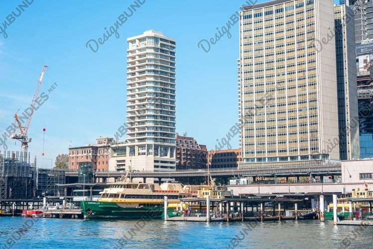 Sydney's Circular Quay. Viewed from the Rocks. Sydney. example image 1