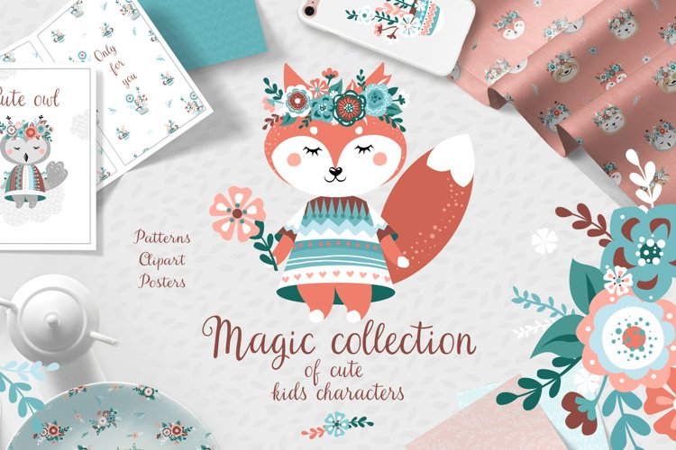The magical collection of cute childrens characters