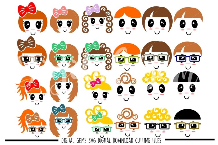 Faces SVG / DXF / EPS / PNG files