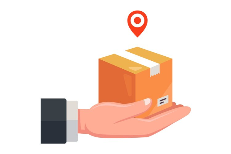 delivery of parcels by courier example image 1