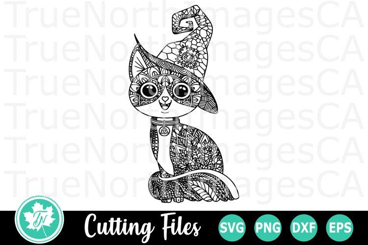 Zentangle Halloween Cat An Zentangle Svg Cut File 349044 Cut Files Design Bundles