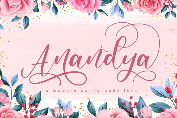 Anandya Chic Modern Calligraphy example image 1
