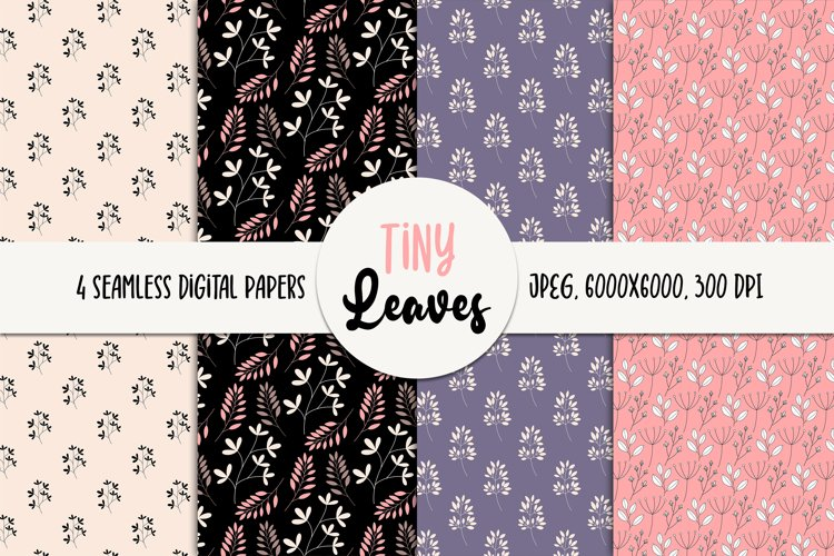 Leaves Seamless Digital Paper - Floral Patterns example image 1