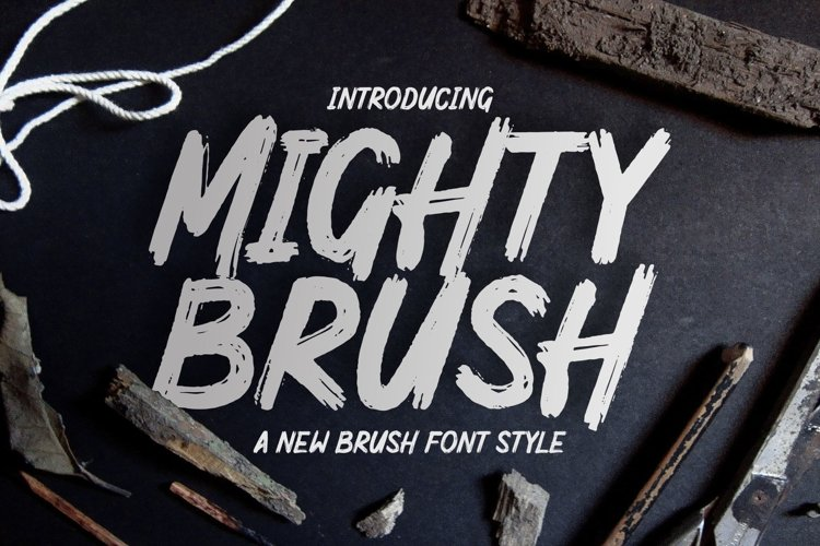 Mighty Brush Font example image 1