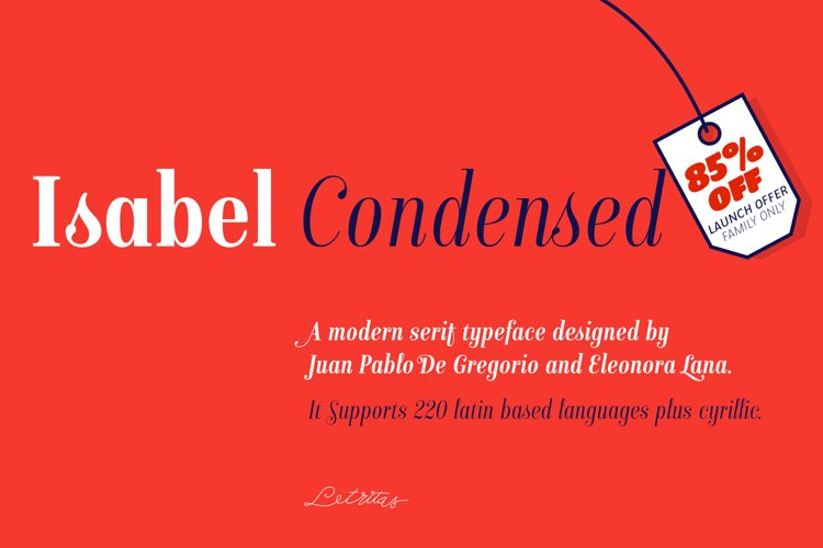 Isabel Condensed example image 1
