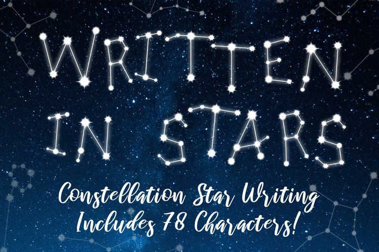 Written in Stars Constellation Writing/Letters example image 1