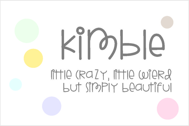 Kimble Font example image 1