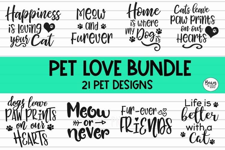 Pet Love Bundle 20 Pet Svg Designs example image 1